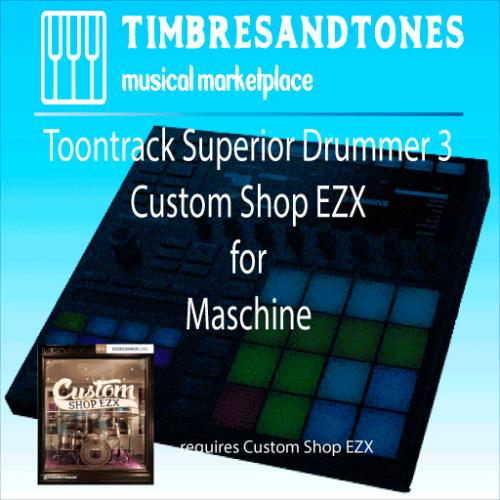 Superior Drummer 3 Custom Shop EZX for Maschine