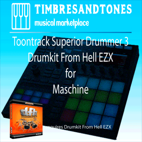 Superior Drummer 3 Drumkit From Hell EZX for Maschine