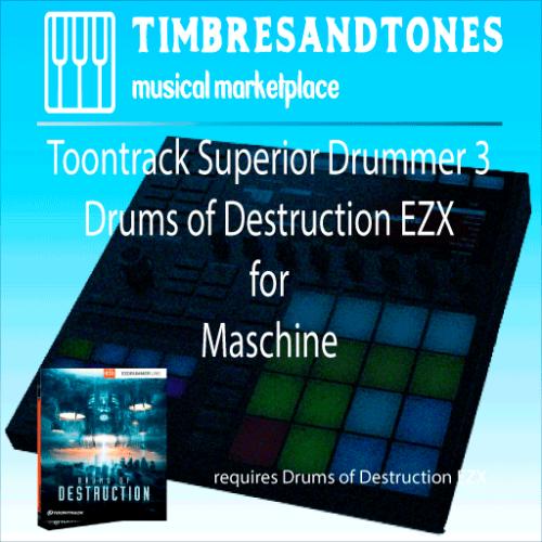 Superior Drummer 3 Drums of Destruction EZX for Maschine