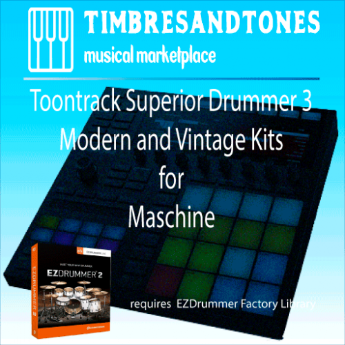 Superior Drummer 3 ezDrummer 2 Factory Library kits for Maschine