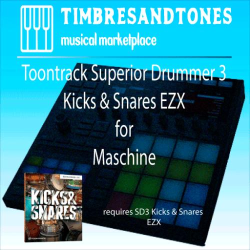 Superior Drummer 3 Kicks & Snares EZX for Maschine