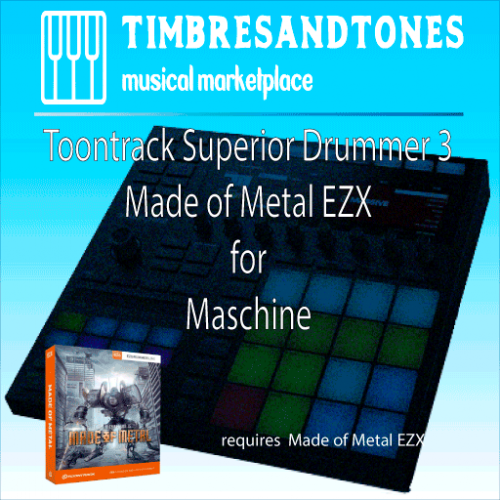 Superior Drummer 3 Made of Metal EZX for Maschine