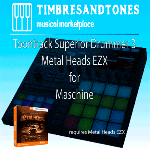 Superior Drummer 3 Metal Heads EZX for Maschine