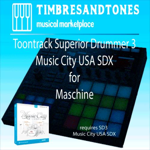 Superior Drummer 3 Music City USA SDX for Maschine