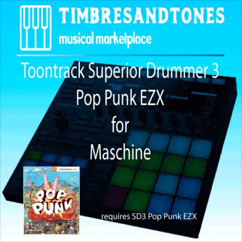 Superior Drummer 3 Pop Punk EZX for Maschine