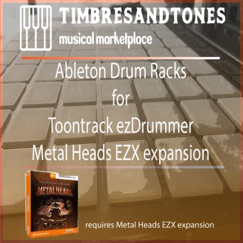 Ableton Drum Racks for ezDrummer Metal Heads EZXKit