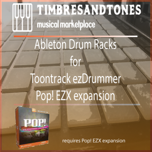 Ableton Drum Racks for ezDrummer Pop! EZX