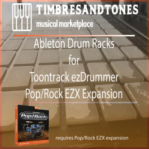 Ableton Drum Racks for ezDrummer Pop/Rock EZX