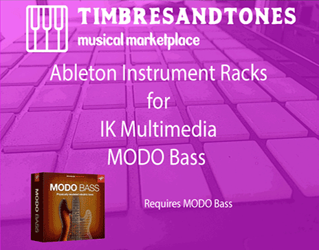 Ableton Instrument Racks for IK Multimedia MODO Bass