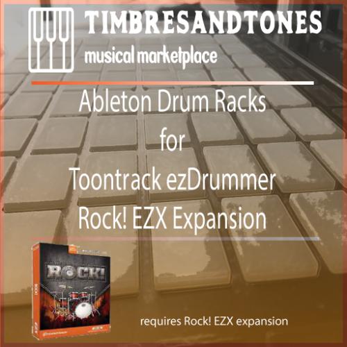 Ableton Drum Racks for ezDrummer Rock! EZX