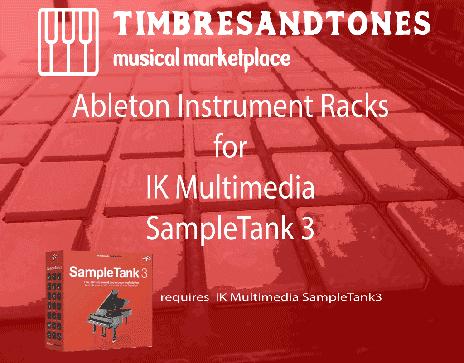 Ableton Instrument Racks for IK Multimedia SampleTank 3