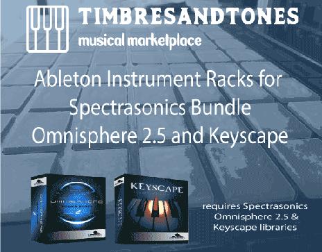 Ableton Instrument Racks Bundle for Omnisphere 2.5 and Keyscape