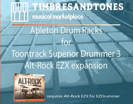 Ableton Drum Racks for Superior Drummer 3 Alt-Rock EZX