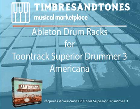 Ableton Drum Racks for Superior Drummer 3 Americana EZX