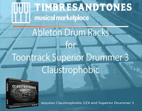 Ableton Drum Racks for Superior Drummer 3 Claustrophobic EZX