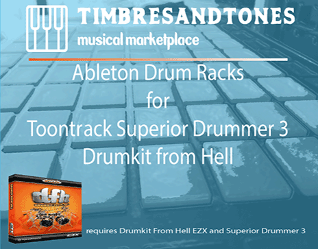 Ableton Drum Racks for Superior Drummer 3 Drumkit from Hell EZX