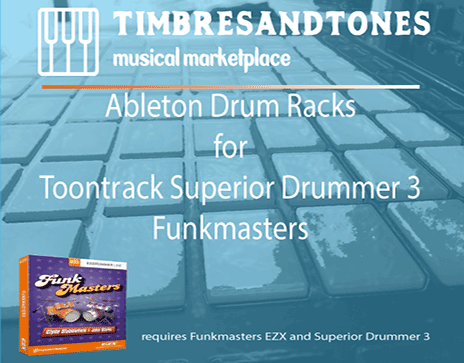 Ableton Drum Racks for Superior Drummer 3 Funkmasters EZX