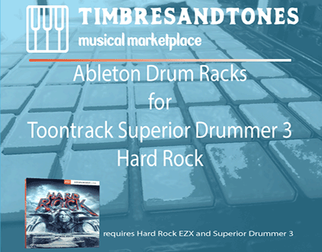 Ableton Drum Racks for Superior Drummer 3 Hard Rock EZX