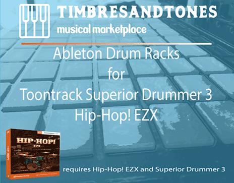 Ableton Drum Racks for Superior Drummer 3 Hip-Hop! EZX
