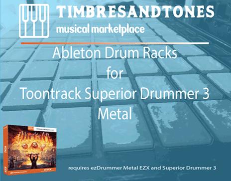 Ableton Drum Racks for Superior Drummer 3 Metal! EZX