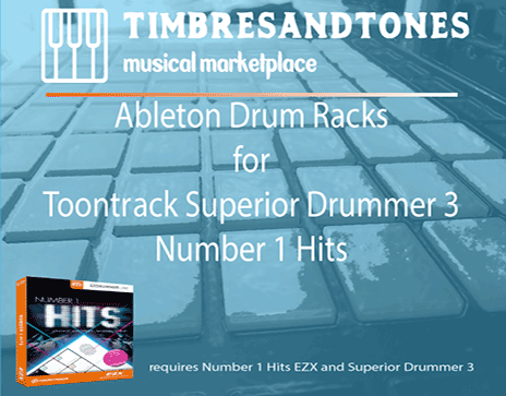 Ableton Drum Racks for Superior Drummer 3 Number 1 Hits EZX