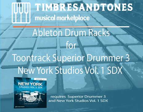 Ableton Drum Racks for Superior Drummer 3 NY Studios Volume 1 SDX