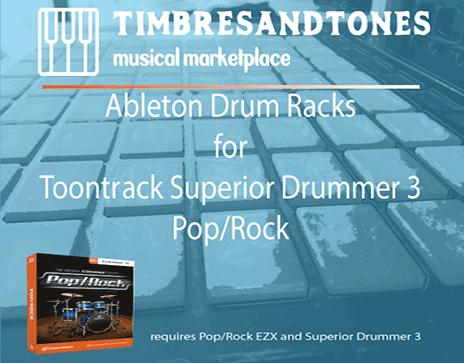 Ableton Drum Racks for Superior Drummer 3 Pop/Rock EZX