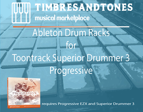 Ableton Drum Racks for Superior Drummer 3 Progressive EZX