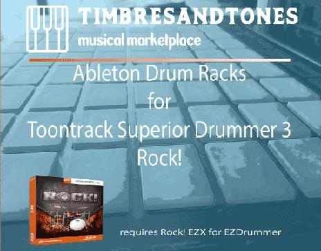 Ableton Drum Racks for Superior Drummer 3 Reggae EZX