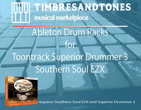 Ableton Drum Racks for Superior Drummer 3 Southern Soul EZX