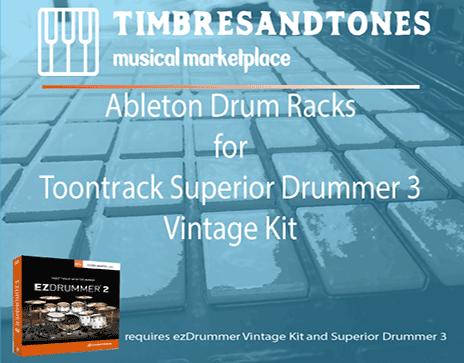 Ableton Drum Racks for Superior Drummer 3 Vintage kit