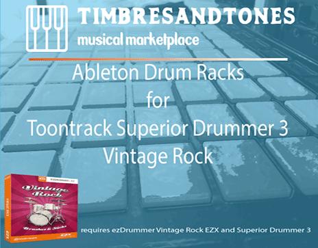Ableton Drum Racks for Superior Drummer 3 Vintage Rock EZX