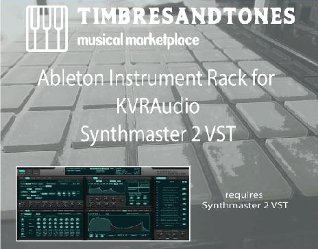 Ableton Instrument Racks for KV331 Audio Synthmaster 2
