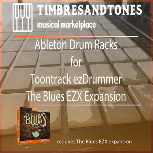 Ableton Drum Racks for ezDrummer The Blues EZX