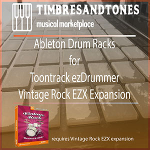 Ableton Drum Racks for ezDrummer Vintage Rock