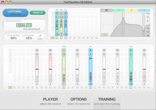 TrainYourEars EQ Edition - Training