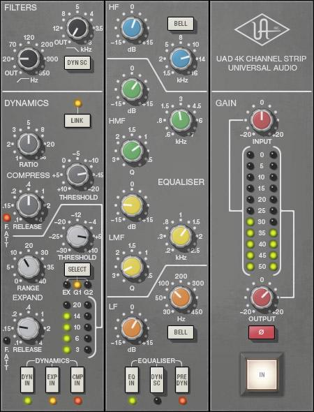 UAD 4K Channel Strip