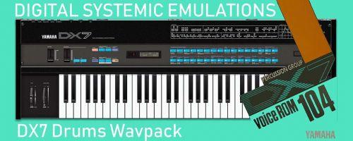 DX7 Drums Wavpack (VCR-104)