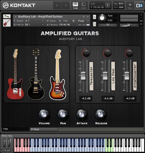 Amplified Guitars - Auditory Lab VST-AU-AAX