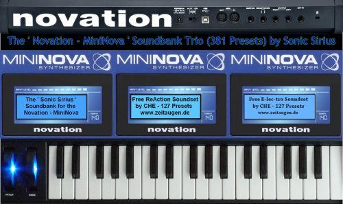 MiniNova Soundbank Trio