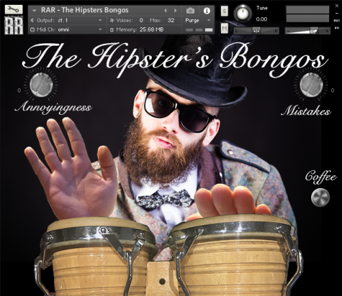 The Hipster's Bongos