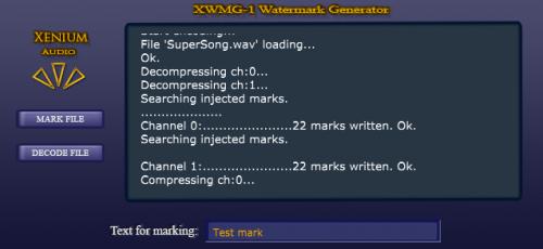 XWMG-1 Audio Watermark Generator