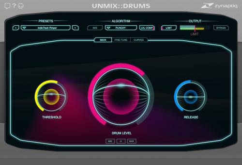 UNMIX::DRUMS Main View