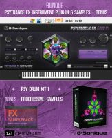 G-Sonique bundle: Psytrance FX instrument plug-in & sample pack + Bonus progressive samples