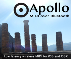 Apollo MIDI over Bluetooth