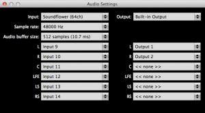 ALM 5.1- Audio Settings