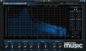 Display of spectrum plugins