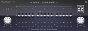 LA bands 2 15 band graphic EQ