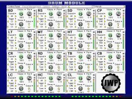 Drum Module Control Panel