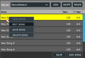 Setlist editing